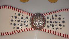 Gaudie Baseball Cuff Bracelet by JazzyJewlz2012 on Etsy