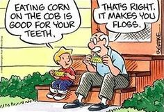 Nature's Flossing Motivator...
