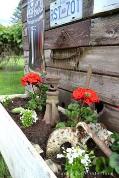 Beautiful primitive garden