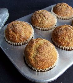 gluten free banana muffins - Yummy recipe. I made in a 9x9 pan though and baked at 350 for 30 mins.