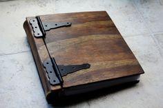 Unique Wooden Sketchbook, Artist's Portfolio, Large Custom Personalized Wood Book, Unique Gift Idea, Engraved Wood Book