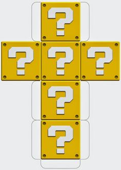 Super Mario Printable Block Templates http://mysupermarioboy.blogspot.co.uk/2014/05/mario-printable-block-templates.html: