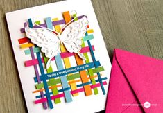 As cardmakers, we end up with a collection of colorful scraps. Well today's technique puts them to good use! And I have many card examples to share… [All supplies are linked to multiple sources i Scrapbooking, Scrapbook Cards, Strip Cards, Patchwork Cards, Jennifer Mcguire Ink, Rainbow Card, Paper Weaving, Ppr, Card Making Techniques
