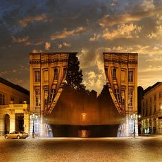 Surreal Architecture, René Magritte Museum, Brussels, Belgium  photo by gbatistini