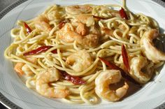 Lemon grass shrims noodles