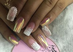 Nails Design, Cilantro, Gel Nails, Nail Art, Eye, Halloween, Jewelry, Lace Nails, Best Nails