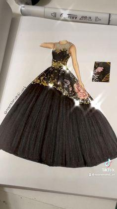 Fashion Design Books, Fashion Design Sketchbook, Fashion Design Portfolio, Fashion Design Drawings, Fashion Books, Fashion Sketches, Dress Design Drawing, Dress Design Sketches, Dress Drawing