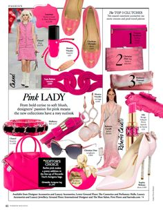 February Issue: Pink Lady: Styled by Olivia Halsall Pink Lady, Harrods, Beckham, Burberry, February, Blush, Chanel, Christian, Resume