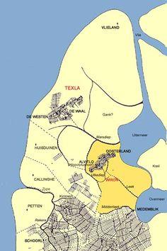Wieringen in de middeleeuwen - Indeling rond het jaar 1000