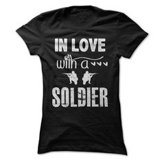 Fall in love with a soldier T-Shirts, Hoodies. Check Price Now ==► https://www.sunfrog.com/LifeStyle/Fall-in-love-with-a-soldier-Black-Ladies.html?id=41382