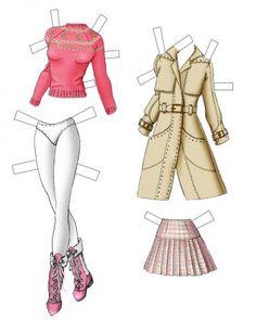 Бумажные Куклы Барби