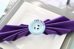 Décoration de table baptême, bleu clair et violet - Le blog d ...