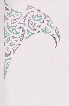 Maori/Samoan Ta Moko Concept by bloodempire on DeviantArt Ta Moko Tattoo, Tattoo Maori, Wave Stencil, Maori Symbols, Polynesian Tribal Tattoos, Maori Patterns, Shoulder Tats, Maori Tattoo Designs, Maori Art