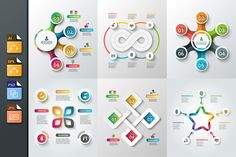 Diagrams for business infographic v2 by Abert on @creativemarket