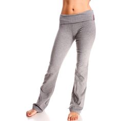 Grey yoga gym workout elastic waistband stretchy pants ($15) ❤ liked on Polyvore featuring activewear, activewear pants, grey and yoga activewear