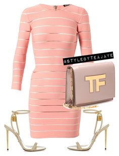 """""""Untitled #1832"""" by stylebyteajaye ❤ liked on Polyvore featuring Balmain and Tom Ford"""