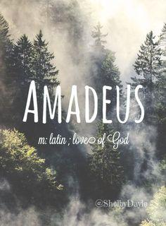 Amadeus - boy name! Pronounced: Ahh-mod-ee-us #boyname #babynames #uniquenames