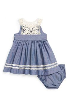 Iris & Ivy Chambray Dress & Bloomers (Baby Girls) | Nordstrom
