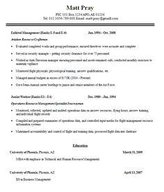 military resume sample free template professional builder badak