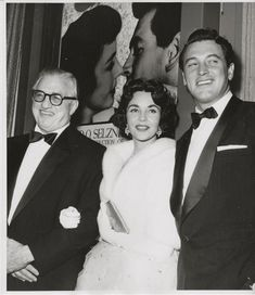 Jennifer Jones, Rock Hudson, and David O. Selznick at the premiere of 'A Farewell to Arms' in 1957 Jennifer Jones, Classic Movie Stars, Classic Films, David O Selznick, A Farewell To Arms, Most Popular Movies, Most Handsome Actors, Rock Hudson, Hollywood Cinema