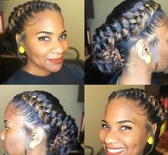 Beautiful Protective Hairstyle for African American Woman: 16 Ideas – summer hair styles Black Girl Braids, Braids For Black Hair, Girls Braids, Two Braids Hairstyle Black Women, Braid Updo Black Hair, 5 Braid, Braid Crown, African Hairstyles, Braided Hairstyles