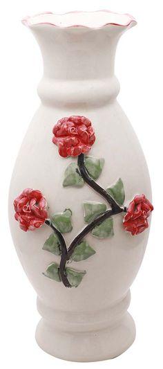 Bulk Wholesale Handmade 18 Big Yellow Flower Vase Pot In Ceramic