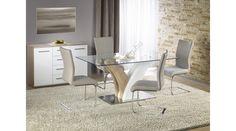 VILMER - egy nagyon szép, elegáns étkezőasztal. Az étkezőasztal mérete: 160/90/76 cm. Az asztal a fotón K219 székekkel látható, melyek nem tartoznak az asztalhoz, de webshopunkban külön megrendelhetők. Ez a modell az itt látható