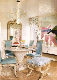 interior designer Ruthie Sommers loves to incorporate Chinoiserie elements in her dining rooms.