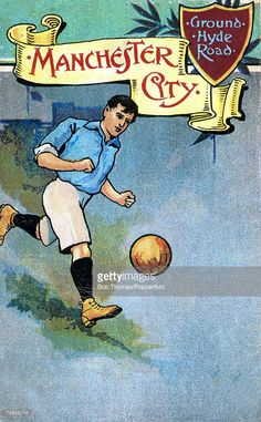 Sport Football Colour illustration pic circa 1910 Manchester City postcard formed as Manchester...