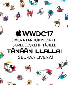 Applen kehittäjäkonferenssi tänään illalla. Katso livenä mitä uusia mahdollisuuksia MacOS ja iOS alustoille.
