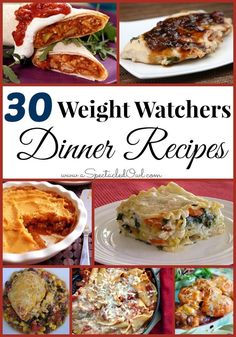 Here are 30 Weight Watchers Dinner Recipes to help you on your journey (plus a few extra bonus recipes at the end! looks simple enough No Calorie Foods, Low Calorie Recipes, Ww Recipes, Light Recipes, Dinner Recipes, Healthy Recipes, Recipies, Healthy Foods, Dinner Ideas