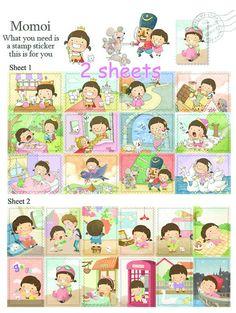 Postage Stamp Sticker on sale momoi sweet girl by StickersKingdom