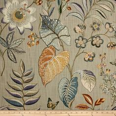 P Kaufmann Butterfly Trail Platinum Fabric by The Yard Chair Fabric, Drapery Fabric, Fabric Art, Fabric Design, Fabric Wallpaper, Pattern Wallpaper, Decoration, Art Decor, P Kaufmann Fabric