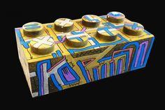 Planche originale de bande dessinée, galerie Napoléon  : Divers - LEGO 01 - Oeuvre originale sur LEGO de TAREK - Street Art -