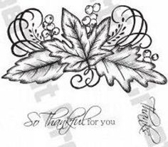 Heartfelt Creations Swirly Autumn Leaves Stamp