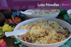 Luau Noodles #occasionary #luau #summer #party #tiki