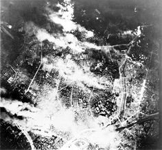 """Tokyo burns under B-29 firebomb assault.Result : 75,000–200,000 civilian deaths; roughly 1,000,000 displaced. On the night of 9–10 March (""""Operation Meetinghouse"""") 334 B-29s took off to raid with 279 of them dropping 1,665 tons of bombs on Tokyo. The bombs were mostly the 500-pound (230kg) E-46cluster bombwhich released 38 napalm-carryingM-69 incendiary bombletsat an altitude of 2,000–2,500ft (610–760m). The M-69s punched through thin roofing material or landed on the ground; in…"""