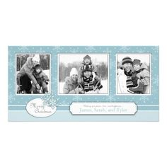 Let It Snow Photo Card Trio #Christmas cards #photo cards #holiday cards  Click on photo to purchase. Check out all current coupon offers and save! http://www.zazzle.com/coupons?rf=238785193994622463&tc=pin