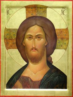 "The Saviour. 2002. Wood, gesso, tempera, gilding. 23,62""X 17,72"". Author's property."