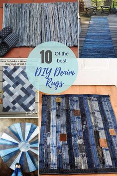 How To Make A Blue Jean Rug, 11 Unique Ways 10 the most unique and coolest upcycled blue jeans rugs. There is more than one way to upcycle and repurpose your old denim into a blue jean rug. Here are 10 unique denim rug tutorials. How To Make A Blue Jean … Upcycled Crafts, Diy And Crafts Sewing, Easy Sewing Projects, Sewing Tips, Repurposed, Upcycled Textiles, Craft Projects, Artisanats Denim, Denim Rug