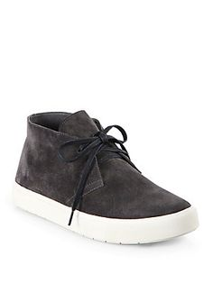 Vince Chelsea Lace-Up Suede Sneakers