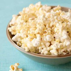 """People don't realize that popcorn is a whole grain,"" says Blake. It's one of the best kept secrets that really shouldn't be."" Swap the prepackaged bag of cheesy popcorn for homemade, stovetop popcorn. ""Anything that is puffed up with air has higher volume and creates a feeling of satisfaction while holding down the calories,"" says Blake."