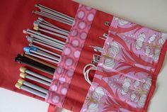 Knitting needle wrap tutorial