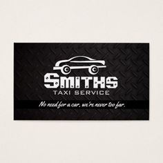 Driver Taxi Business Cards