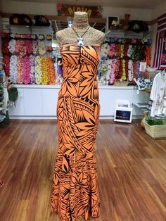 Samoan Dresses | These dresses made in Samoa, comes in very vibrant and striking colors
