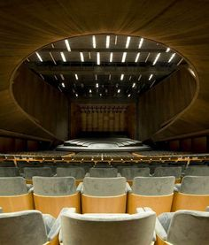 Music theatre architecture concert hall new ideas Auditorium Design, Auditorium Architecture, Theatre Architecture, Auditorium Seating, Cultural Architecture, Urban Architecture, Concert Hall Architecture, Theatre Design, Modern Buildings