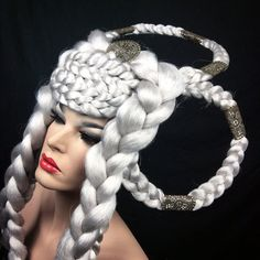 READY TO SHIP Silver white Hunger Games by PoshFairytaleCouture