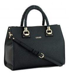 !!!Kurzgrifftasche Liu Jo Satchel Manhattan nero schwarz Liu Jo, Manhattan, Dime Bags, Artificial Leather