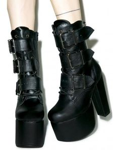 Iron Fist Bat Wing Platform Boots | Dolls Kill