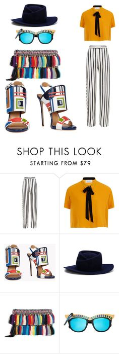 """""""Untitled #162"""" by doelaurent ❤ liked on Polyvore featuring Nicholas, Dsquared2, Gladys Tamez Millinery, Christophe Sauvat and Anna-Karin Karlsson"""
